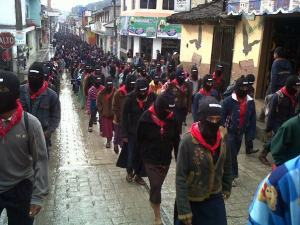 bay intifada - zapatista silent march