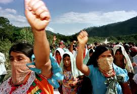 bay intifada - zapatista women march