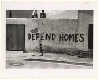 Protesting the government's removal and resettlement of Africans to reserves, Sophiatown, South Africa, 1954