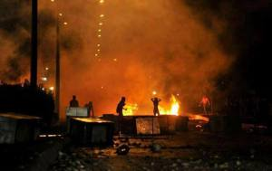 bay intifada turkey barracades fire