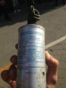 US-made tear gas canisters blanket the streets of Istanbul and other Turkish cities.