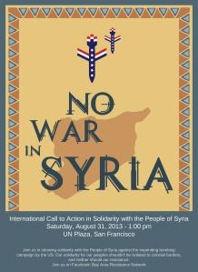 No War on Syria