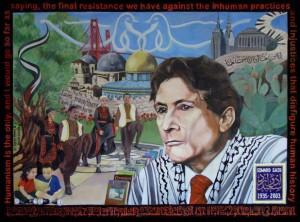 Edward Said mural on SFSU campus