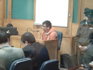 Police informant Raul Castro testifying in court in August 2013.