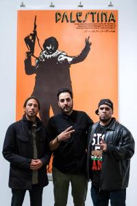 Zack de la Rocha, Sohail Daulatzai, and Immortal Technique at the first Groundings event