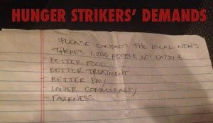 hunger striker demands