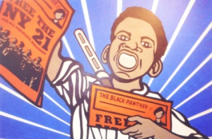 "via the SF Bayview: Emory Douglas' ""Free the NY 21"" from The Black Panther newspaper is one of his many great works on display at the New Museum in New York City."