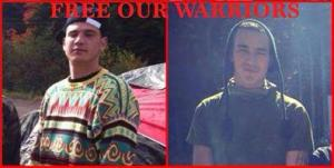 Germain junior Breau and Aaron Francis, members of the Mikmaq Warrior Society