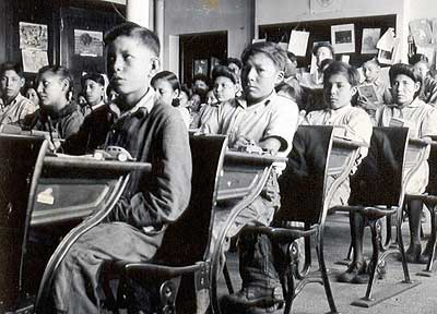 Native children in Residential School.