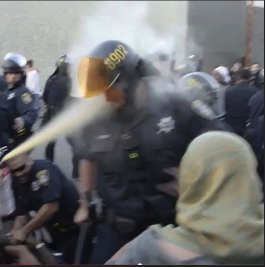 OPD Officer Takes Some Mace To The Face
