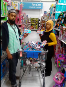 Emptying Out Zionist products at Walmart