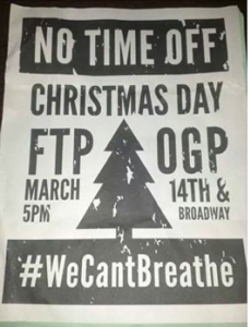Flier for X-Mas Day FTP March (Oakland)