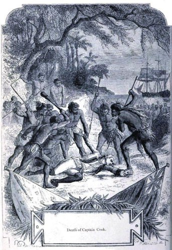 The death of Captain Cook.