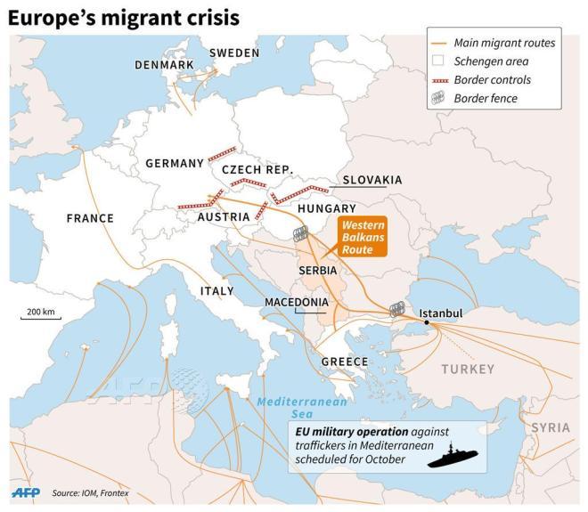 mapa ograj meja begunci