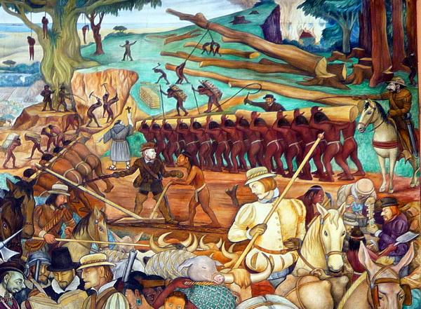 Mural by Diego Rivera, at the Palacio Nacional, Mexico City.
