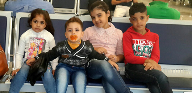 Looking for a better life: Children from the al-Faj family from Kirkuk
