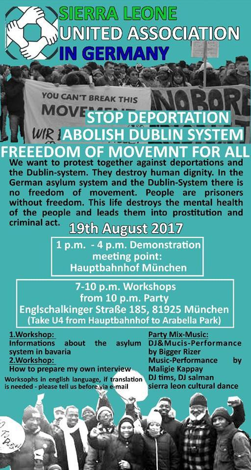 #Munich Demonstration: #StopDeportations – Abolish the Dublin System! Freedom of Movement For All!